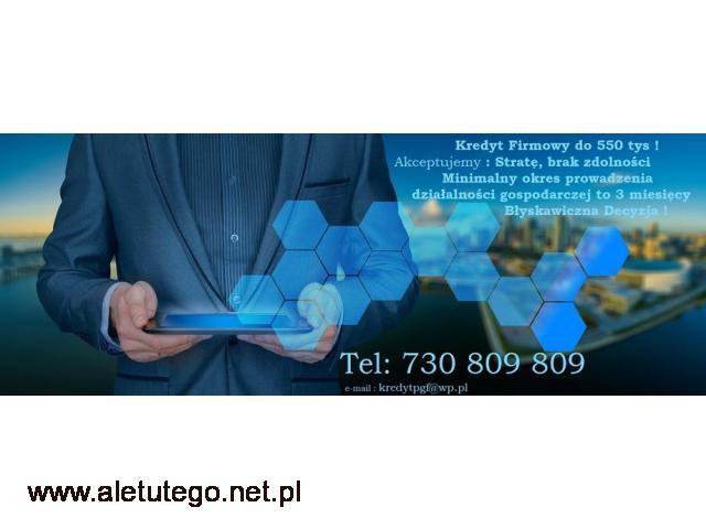 Prosty Kredyt dla Firm, Rolników do 600 tys bez zabezpieczenia - 1/1