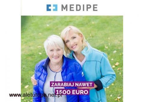 Zlecenie na 2 miesiące dla Opiekunki za 1600 EURO / miesiąc + PREMIA!