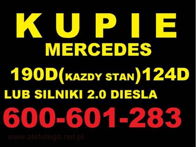 Skup Mercedes 190d 124d 2.0D Kupie silnik 200d 300d w201 - 1/1