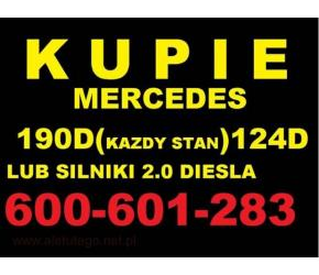 Skup Mercedes 190d 124d 2.0D Kupie silnik 200d 300d w201