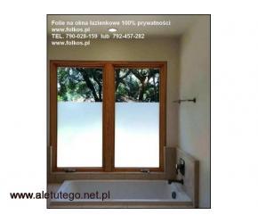 Folie na okna łazienkowe- Folie na Balkony Warszawa -oklejanie szyb Folkos - 2/2