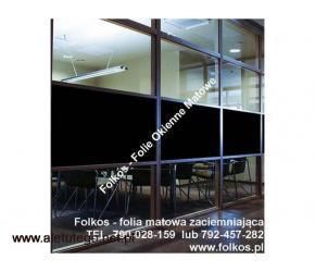 Folia w 100%- tach zaciemniająca Warszawa Folkos folie okienne - 2/2