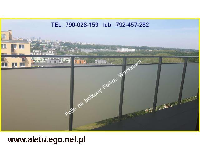 OKlejanie BALKONÓW- Folie na szyby balkonowe Warszawa - 1/2