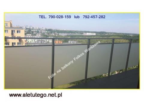 OKlejanie BALKONÓW- Folie na szyby balkonowe Warszawa