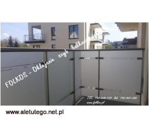 OKlejanie BALKONÓW- Folie na szyby balkonowe Warszawa - 2/2