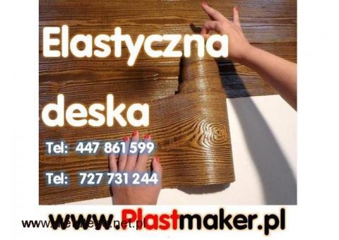 Hit PROMOCJA PlasterTynk elastyczna deska elewacyjna -  IMITACJA DREWNA