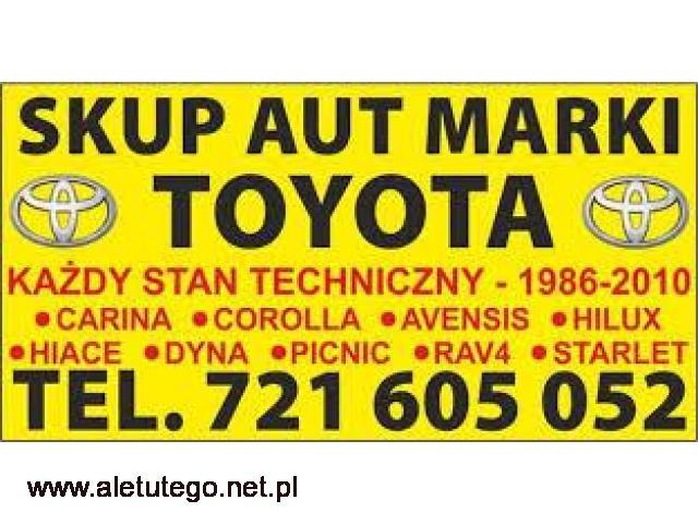 Kupię Toyotę Picnic Carina Corolla Hiace SKUP AUT Toyota - 1/1