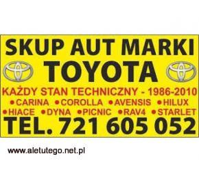 Kupię Toyotę Picnic Carina Corolla Hiace SKUP AUT Toyota