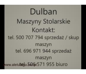 Frezarko- Pilarka KOLLE Frezarka dolnowrzecionowa