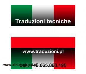 Włoski - tłumaczenia techniczne pisemne i ustne w całej Polsce