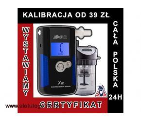 kalibracja alkomatów ALKOHIT X3 X5 X10 X60 X100 od 39 zł