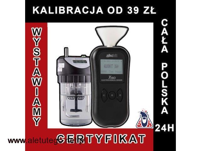 kalibracja alkomatu | alkohit X60 | adiustacja  PROMIL-LAB - 1/1