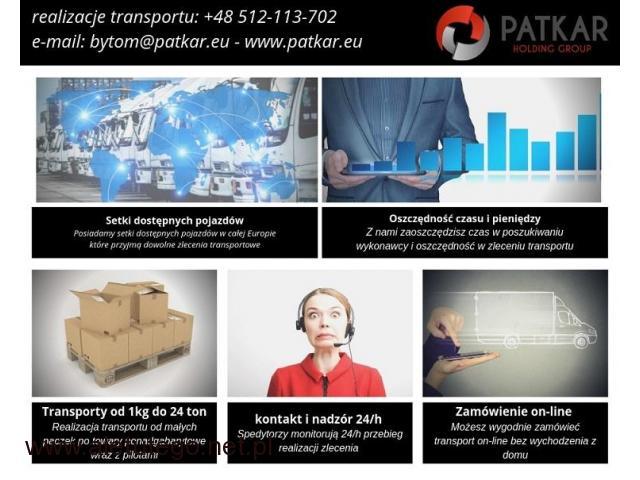 Transport i Spedycja - realizacja każdego zlecenia od 1kg do 24ton