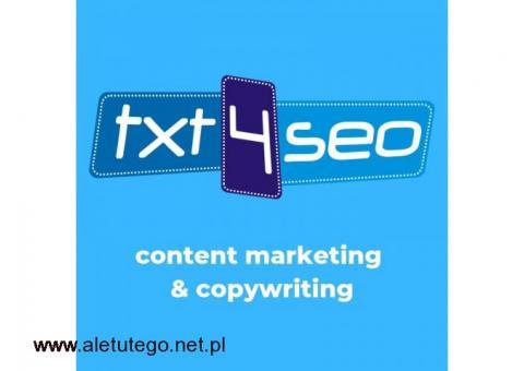 Content marketing, copywriting, tworzenie treści: Gdańsk, Gdynia, Sopot (Trójmiasto) i okolice
