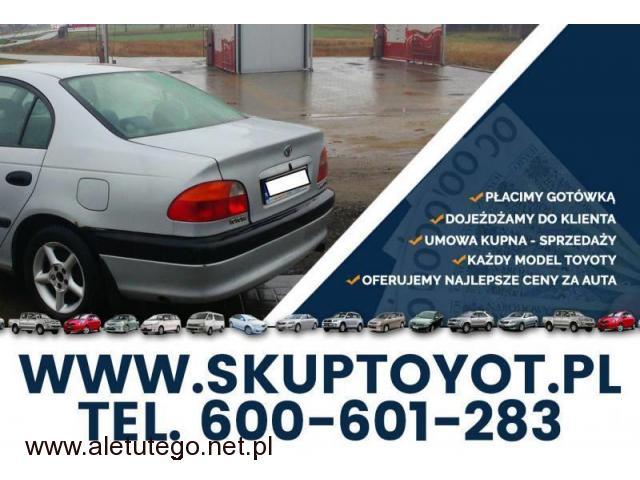 Kupię Toyotę Avensis 1.6 1.8 TD D4D 2.0 T22 SKUP TOYOT - 1/1