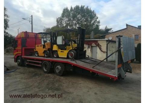 Transport wózków widłowych maszyn koparek Poznan 600-960-987