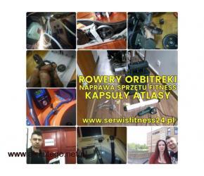 Naprawa sprzętu fitness - rowery, orbitreki, kapsuły, atlasy