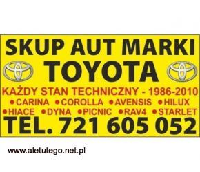 Skup Aut Toyota Picnic 2.0 Kupię Toyote