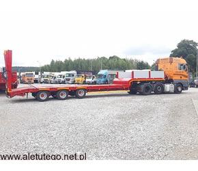Transport niskopodwoziowy maszyn i gabarytów transport wywrotką lawetą