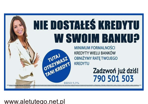 Nie dostałeś kredytu w swoim Banku? U nas Kredyty z dużą akceptacją