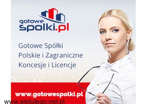 Gotowe Fundacje, Gotowa Spółka Niemiecka, Bułgarska, Czeska, Słowacka KONCESJE OPC 603557777