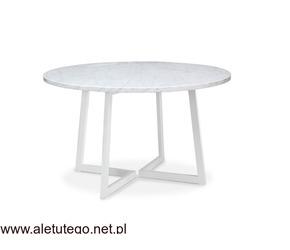 Stół okrągły z marmurowym blatem | Mattianni