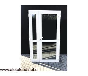 Drzwi PCV dwuskrzydłowe