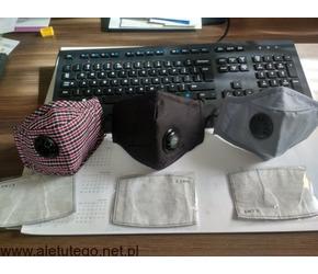 Maseczki FFP3 ochronne filtr PM 2.5 wymienny 100% bawełna okazja