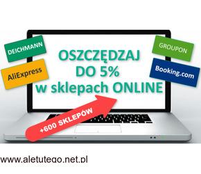 OSZCZĘDZAJ w sklepach ONLINE: Aliexpress, Deichmann, Groupon, itd +600 innych