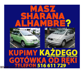 kupię - skup VW Sharan, SEAT Alhambra ,stan obojętny