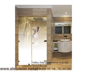 Folie na kabiny prysznicowe-folie okienne Warszawa oklejanie szyb folią