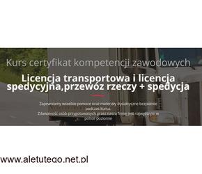Lublin, Kurs Certyfikat Kompetencji Zawodowych Przewoźnika Drogowego CPC