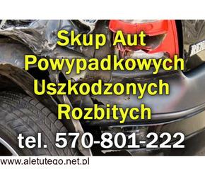 Kupimy Twoje Auto po wypadku, rozbite, uszkodzone - Skup aut Powypadkowych