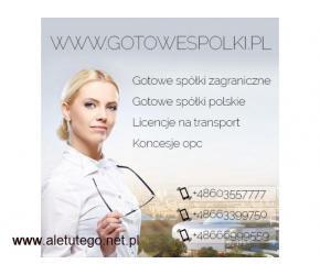 LICENCJA NA TRANSPORT MIĘDZYNARODOWY, KRAJOWY SPEDYCJA Gotowe Fundacje, Wirtualne Biura 603557777