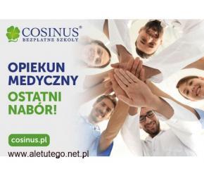 Opiekun medyczny w Szkole Cosinus. Rekrutacja trwa!Ostatni nabór na rok nauki!