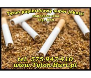 Tani tytoń 1kg czysty tytoń papierosowy 65zl/kg tel. 575 947 410