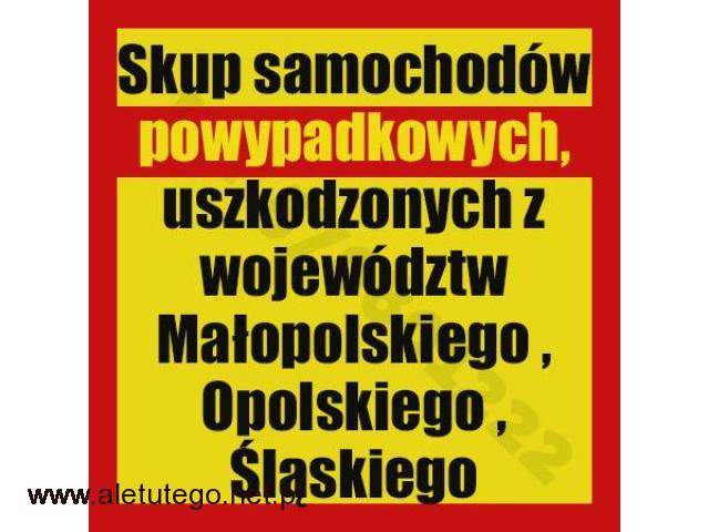 Skup samochodów powypadkowych Kraków/Katowice/Opole , uszkodzonych - 1/1