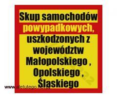 Skup samochodów powypadkowych Kraków/Katowice/Opole , uszkodzonych