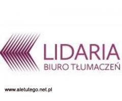 Profesjonalne tłumaczenia. Biuro Tłumaczeń Lidaria