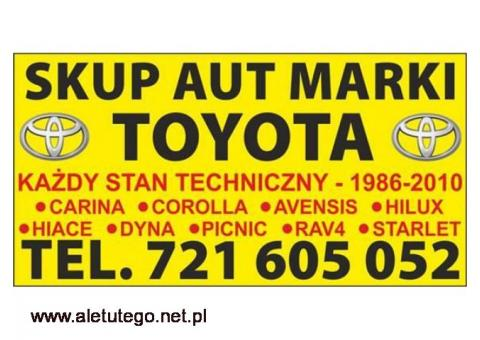 Skup Starych Toyot Corolla e9 e10 e11 Carina Hiace Kupię