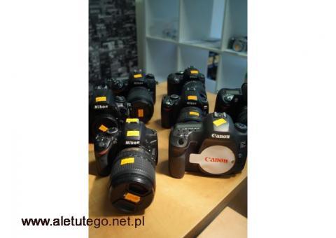 Czyszczenie filtra matrycy CCD CMOS w lustrzankach Canon Nikon Sony Fuji Katowice
