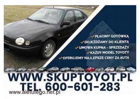 Kupie Twoją Toyotę Corolla Carina Hiace Hilux e9 e10 e11