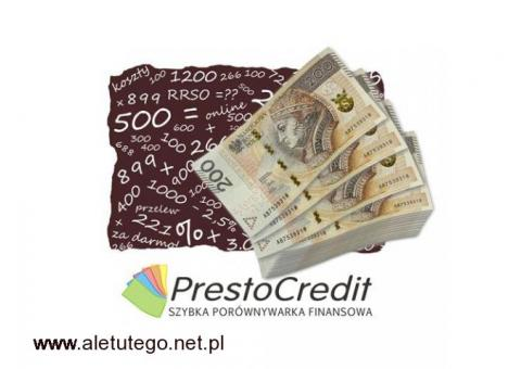 Porównywarka pożyczek i kredytów. Ponad 50 ofert – sprawdź!