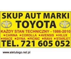 Kupie Toyota Corolla Carina Hilux e9 e10 e11 Skup Toyot