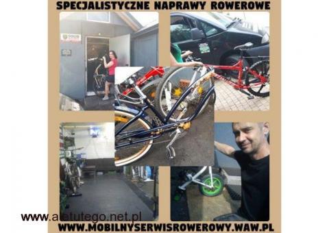 Naprawiamy każdy model Roweru , także rowery trójkołowe, wózki inwalidzkie, dziecinne wózki biegowe