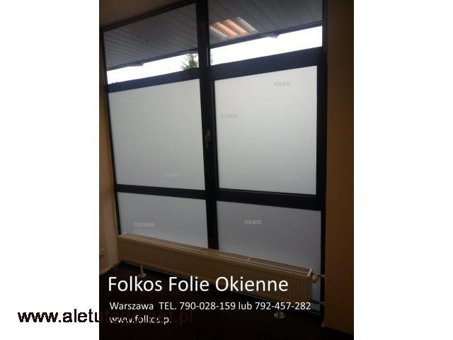 Folie okienne;matowe, dekoracyjne, przeciwsłoneczne, lustro weneckie Warszawa - 1/2