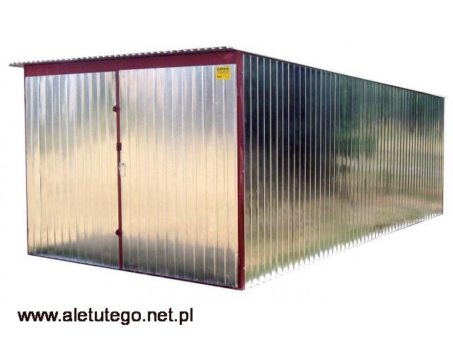 Garaż blaszany blaszak ocynkowany rozmiary 2x3 3x5 4x5 5x5 stalowy ocynkowany montaż transport - 1/2