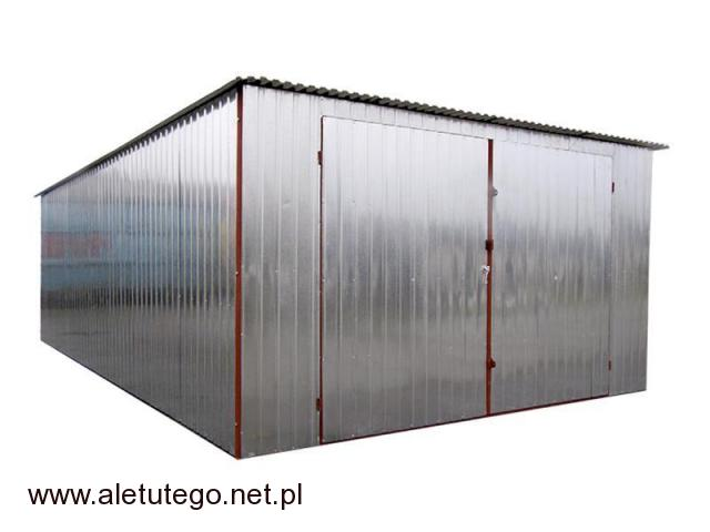 Garaż blaszany blaszak ocynkowany rozmiary 2x3 3x5 4x5 5x5 stalowy ocynkowany montaż transport - 2/2