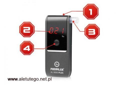 Alkomat AL8000 PLUS (z ulepszonym softwarem i sensorem)