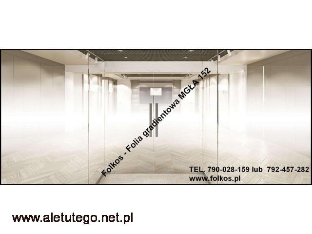 Folia dekoracyjna na okna,ścianki działowe -Oklejanie szyb Warszawa - 1/2